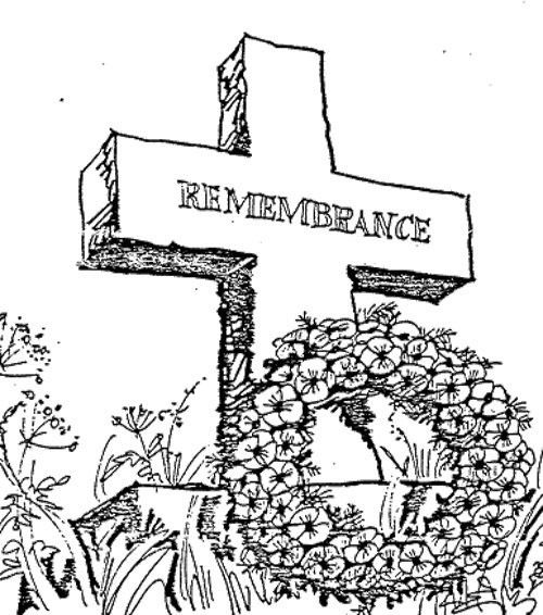 Remembrance Day Coloring Pages - Coloring Home | 566x500